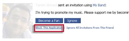 Facebook - block one app
