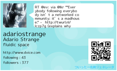 Retweet Business Card