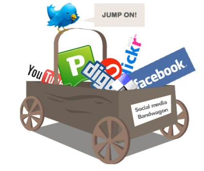 Social Media Fun Shopping Cart