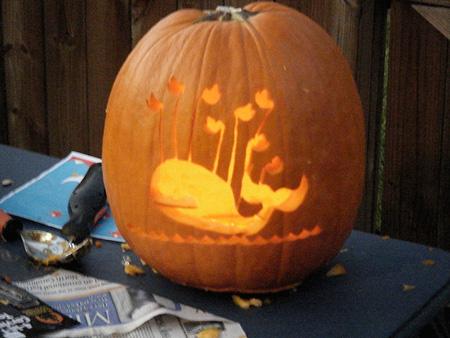 Fail whale pumpkin