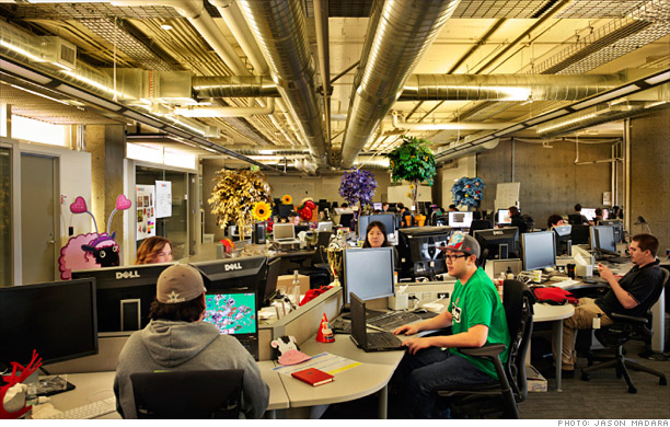 zynga office staff working