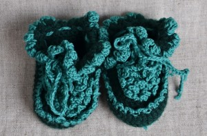 green-baby-shoes